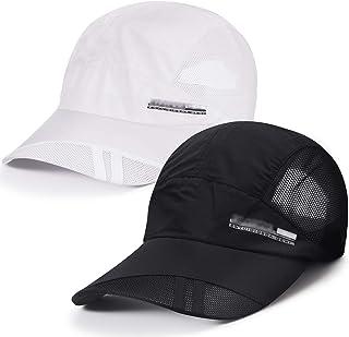 2 Pieces Adjustable Baseball Cap Quick Dry Sports Cap Sun Hats for Women and Men