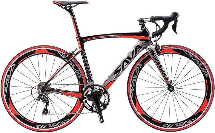 Bici da corsa savadeck warwind5.0 con shimano 105 r7000 gruppo a 22 velocità ,doppio freno, ultralight SVRB0008_BL-500