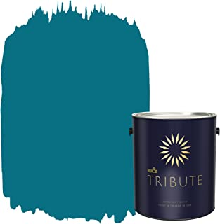 KILZ TRIBUTE Interior Satin Paint and Primer in One, 1 Gallon, True Teal (TB-59)