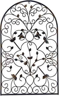 Deco 79 34196 金属墙壁艺术拱形蝴蝶滚轴大*牌室内室外家居装饰宽 78.74 厘米 x 48.26 厘米