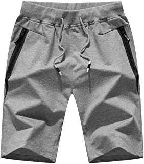 "STICKON Mens 7"" Inseam Workout Shorts Elastic Waist Drawstring Summer Casual Short.."