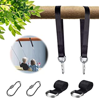 NOSTAFY 2PC Express Setup Hanging Tree Straps (400 Lbs Limited/Each) for Outdoor Swings Hammock Playground Set Accessories