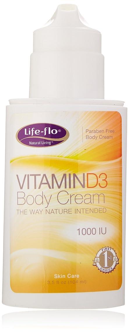 動脈チャペル適性海外直送品 Life-Flo Vitamin D3 Body Cream, 4oz 1000IU