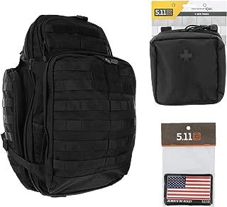 5.11 RUSH72 Tactical Backpack Med First Aid Patriot Bundle - Black