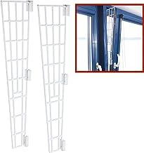 TRIXIE 2X kantelraam beschermrooster, kunststof, zijpaneel, 62x16/7cm, wit