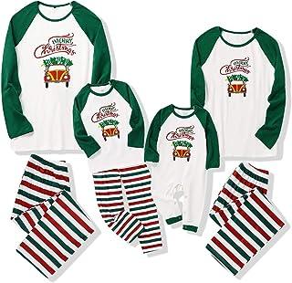 Pijamas de Navidad Ropa de Dormir de Feliz Navidad a Juego con La Familia Camisón de Navidad Pjs Conjuntos de Pijamas de Navidad para Papá Mamá Niños Bebé Parejas (Papá 2X-Large)