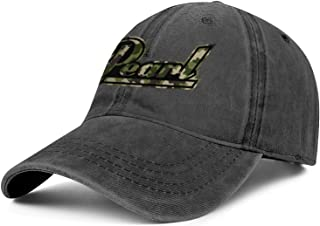 BSUTU Mens Womens Cowboy Hat Pearl-Drums-Music-Camouflage- Washed Cotton Adjusted Sport Golf Cap