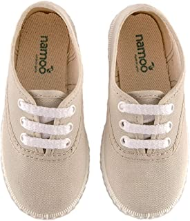 Namoo Kids Lace Sneaker for Boys and Girls, Cotton and Rubber Sole, Baby-Toddler-Kid Shoe