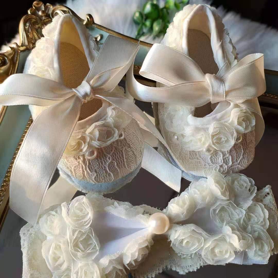 Elegant New color Rose Flower Baby Girl Shoes f San Jose Mall Cotton Dress Newborn