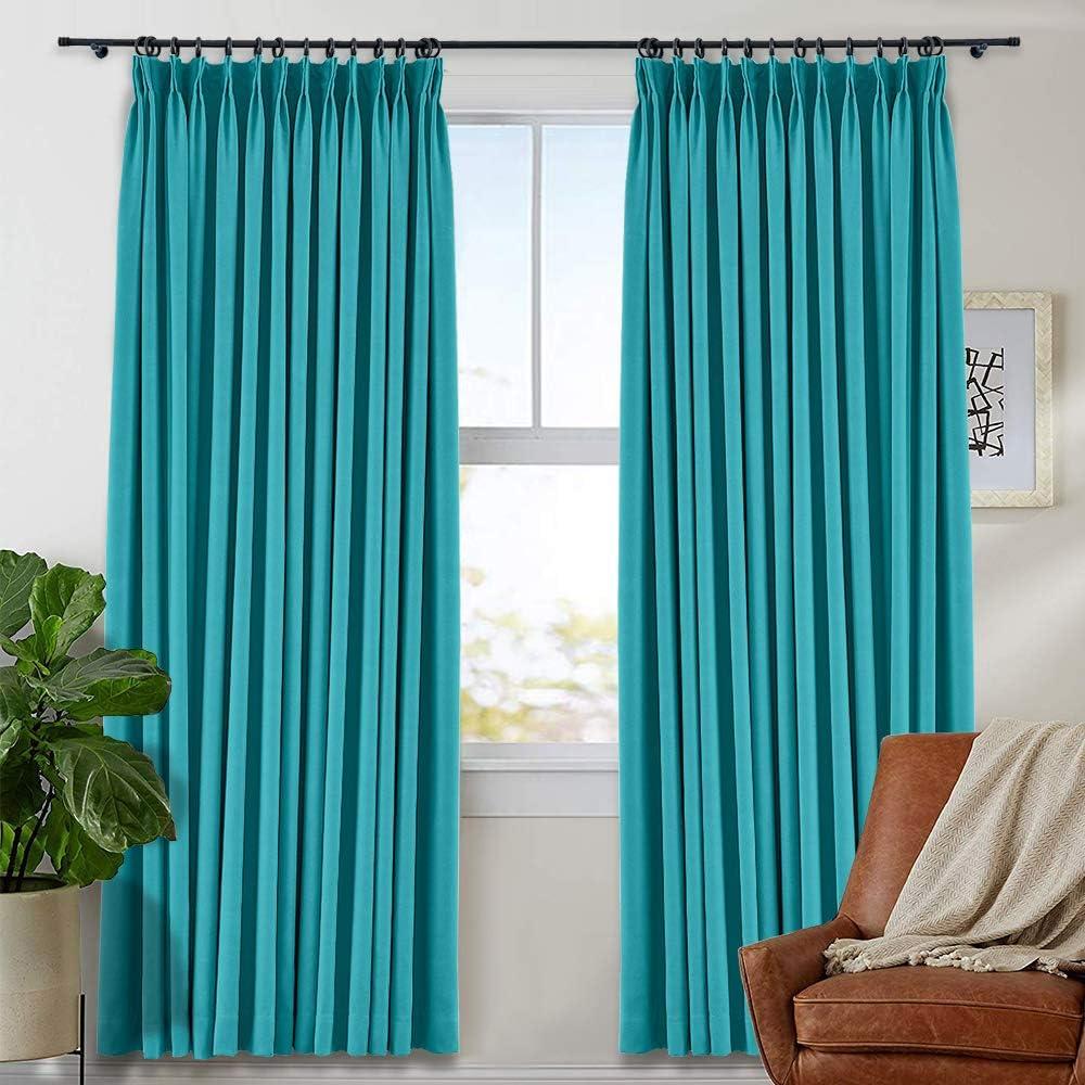 TWOPAGES Seasonal Wrap Introduction Pinch Pleated Curtain Max 53% OFF Room Window Curta Darkening Drape
