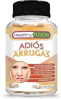 ADIÓS ARRUGAS | Previene y elimina las Arrugas | Piel más Hidratada. Firme y Rejuvenecida | Colágeno Hidrolizado + Ácido Hialurónico + Coenzima Q10 + Ácido Alfa Lipoico + Vitamina C | 50U.
