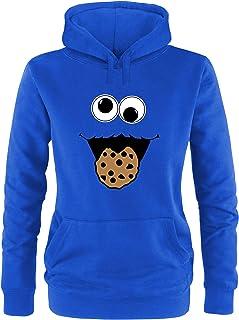 Ezyshirt Cookie Monster Damen Hoodie | Damen Kapuzenpullover | Damen Pullover