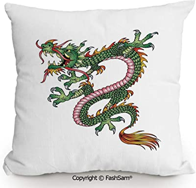 Amazon.com: AngelDOU - Cojín cuadrado de lino y algodón ...