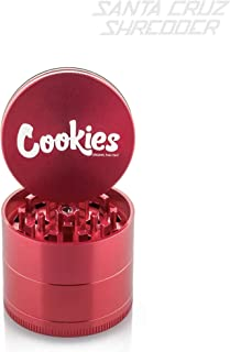 Santa Cruz 4pc Medium Cookies Herb grinder, 23 1/8, Red