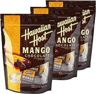 ハワイお土産 ハワイアンホースト ドライマンゴーチョコレート 3袋セット