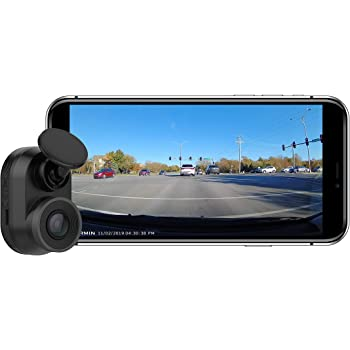 Garmin Dash Cam Mini, Car Key-Sized Dash Cam, 140-Degree Wide-Angle Lens, Captures 1080P HD Footage, Very Compact with Automatic Incident Detection and Recording (Renewed)
