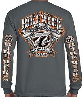 Biker Life USA 2018 Bike Week Daytona Beach Official Logo Long Sleeve T-Shirt
