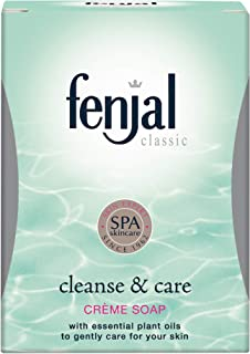 FENJAL Classic Cleanse & Care Creme Soap - 100g  Gently Cleanse and Moisturise the Skin
