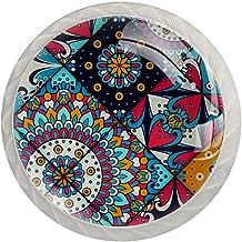 Lade knop Pull handvat 4 stuks Crystal Glass Cabinet lade trekt kast knopen,patroon