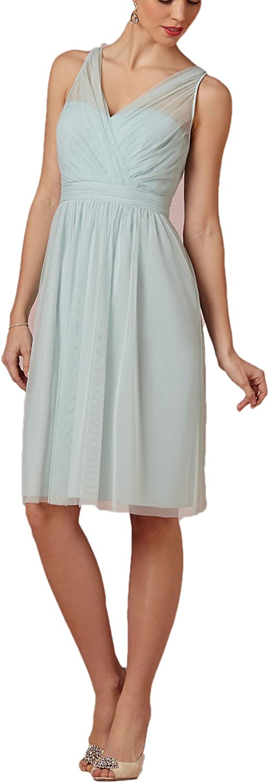 AK Beauty Women's VNeck Knee Length Prom Dress