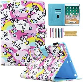 iPad Mini Wallet Case, Mini 1 2 3 4 Kids Case, Motie PU Leather Stand Smart Case Cover with Auto Sleep/Wake Function for 7.9 inch Apple iPad Mini 1 / Mini 2 / Mini 3 / Mini 4, Rainbow Pony