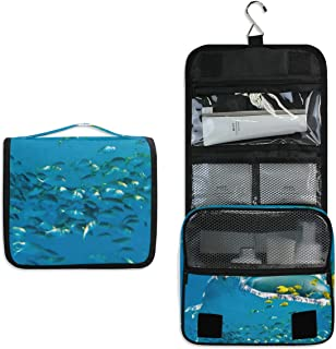 Hanging Toiletry Bag WHALE SHARK Waterproof Wash Bag Makeup Organizer for Bathroom Men Women