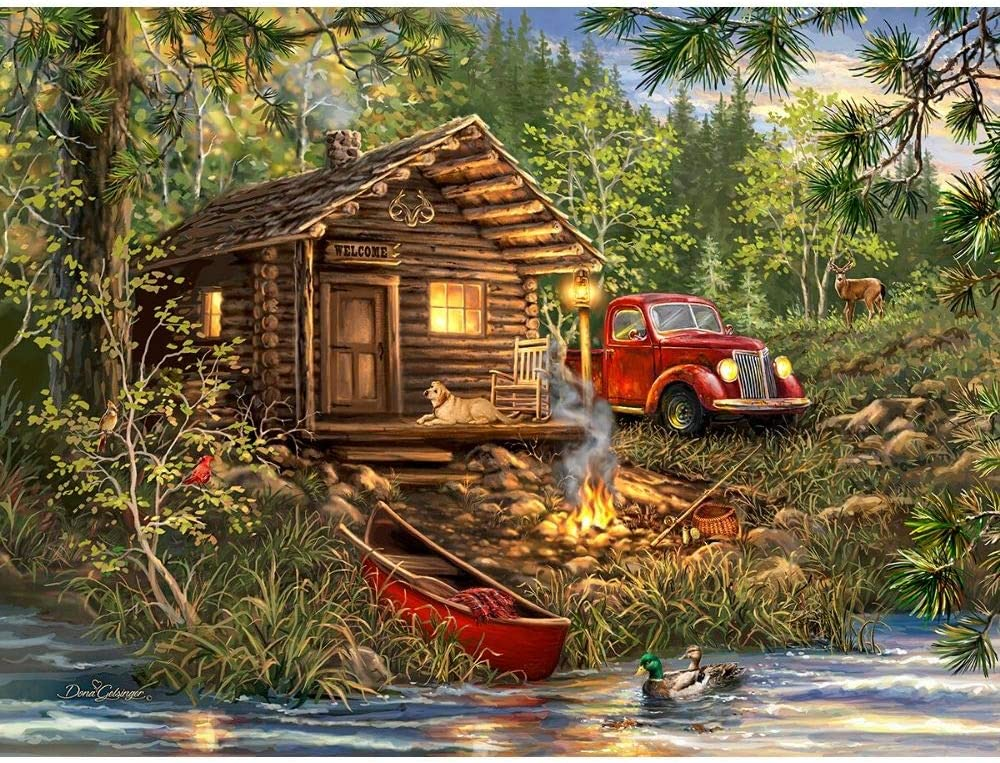 Springbok's 500 Piece Jigsaw Ranking TOP6 Puzzle Cozy Cabin Made in - US Sales of SALE items from new works Life