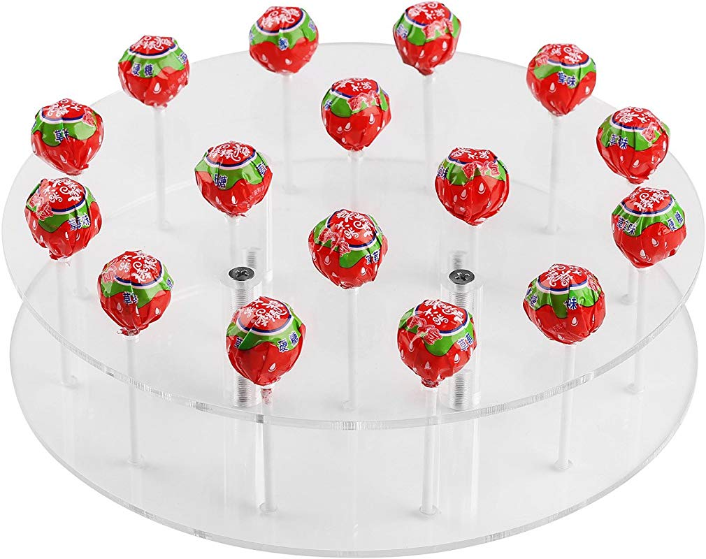 YestBuy Round Shaped Acrylic Cake Pop Stand 1 Pc Pack