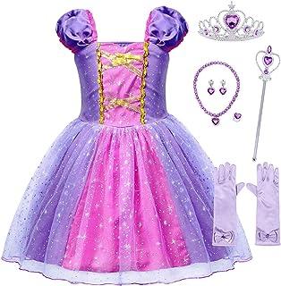 AmzBarley Rapunzel Costume Princess Lepei Dress for Toddler Girls Fancy Party Halloween Christmas Cosplay Costume