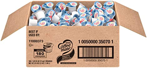 Nestle Coffee mate Coffee Creamer, French Vanilla, Liquid Creamer Singles, Box of 180 Singles