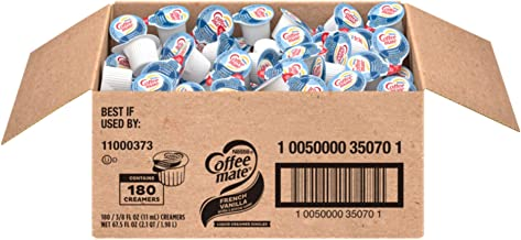 Nestle Coffee-mate Coffee Creamer, French Vanilla, Liquid Creamer Singles, Box of 180 Singles (35070)