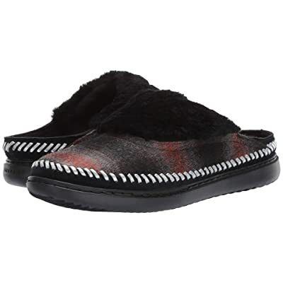 Cole Haan 2.ZeroGrand Convertible Slip-On (Wool Plaid/Ch Argento Leather/Black Shearling/Black) Women