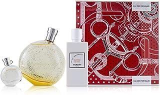 Hermes Eau Des Merveilles Coffret: Eau De Toilette Spray 100ml + Moisturizing Body Lotion 80ml + Eau De Toilette 7.5ml 3pcs