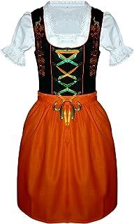 Seruna Dirndl Vdi08 Dirndl, viele Modelle in verschiedenen Größen 32 - 52 und Farben, 3 teiliges Trachtenkleid Set, Kleid mit Bluse und Schürze