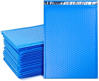 UCGOU 10.5x16 Inch Poly Bubble Mailer Blue Self Seal Padded Envelopes Waterproof and Tear-Proof Postal Bags Pack of 25