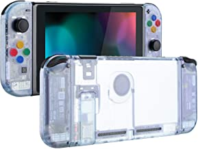 eXtremeRate Back Plate for Nintendo Switch Console, NS Joycon Handheld Controller Housing with Colorful Buttons, DIY Repla...