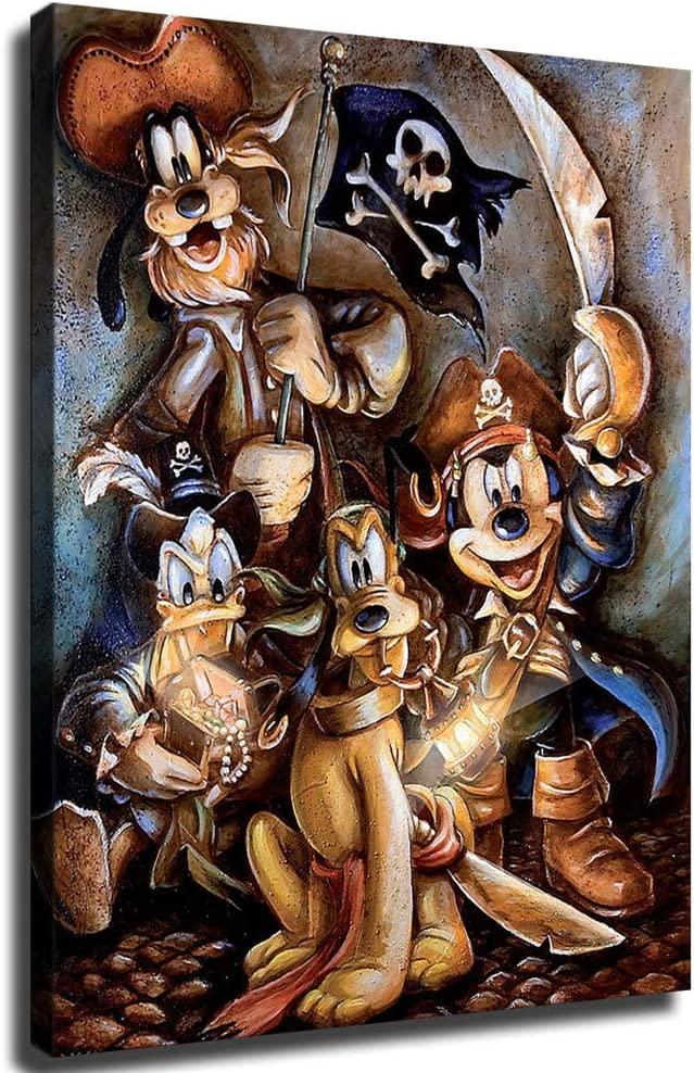 FINDEMO OFFicial store Mickey Omaha Mall Mouse Pirates of Caribbean The Canvas Art Poster