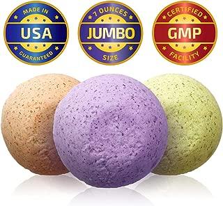 Soothing Greens Hemp Bath Bombs by VEYO Nutrition - 3 Jumbo Bath Bombs - Lavender, Citrus & Orange w/Natural Hemp Oils