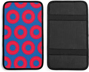 Phish Circles Blue Red in Phish Auto Center Console Pad Car Armrest Seat Box Cover Protector Universal Fit Car Decor Handrail Box Arm Rest Cushion Lid