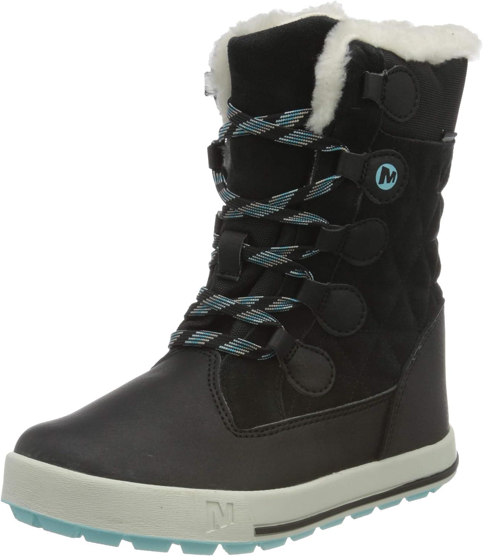 Sale special price Merrell Soldering Heidi Waterproof Snow Boot Black Unisex Kid 13 US Big