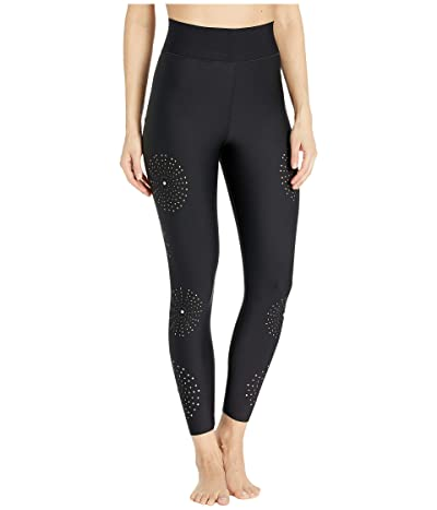 Ultracor Sprinter High Swarovski Sea Urchin Pixelation Leggings (Nero/Brushed Rose/Rosaline) Women