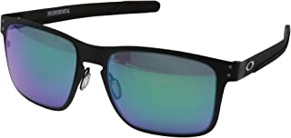 Oakley Holbrook Metal Sunglasses Matte Black with Jade Iridium Lens + Sticker