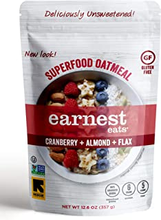 Earnest Eats Superfood Hot Cereal with Quinoa, Oats & Amaranth, Vegan, Gluten Free, American Blend, 12.6oz Bag, Pack of 6