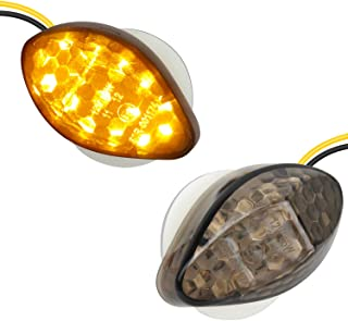 NTHREEAUTO 2Pcs Amber Flush Mount LED Turn Signal Lights Compatible with Honda CBR600RR CBR1000RR CBR 600 F4 CBR900 CBR919...