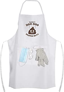 Daddy's Doo Doo Diaper Duty Apron Kit - Gag Gifts for The New Dad, Perfect Baby Shower Gift for Dad, Fun New Unique Father's Day Gift idea