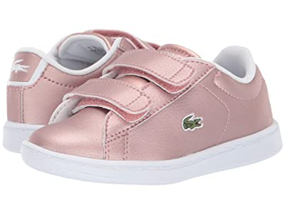 Lacoste Kids Carnaby Evo Strap 319 2 (Toddler/Little Kid) (Pink/White) Kid
