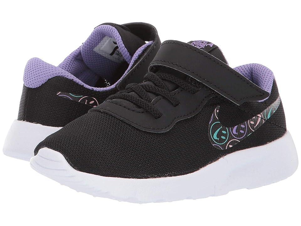 Nike Kids Tanjun (Infant/Toddler) (Black/White/Space Purple/Cabana) Girls Shoes