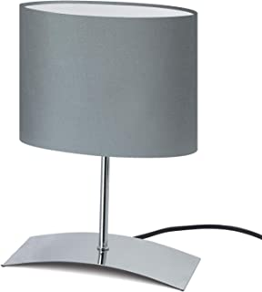 """Trango Lampe de table, design Lampe de chevet TG2018-04G""""GREYNY"""" lampe de bureau, Lampe""""Aigle Gris"""" avec écran en tissu en..."""