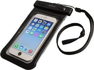 オウルテック iPhone 7/7Plusホームボタン対応 防水・防塵ケース ドライバッグ 両面透明 海/釣り/お風呂 最高級保護レベルIP68取得 ネックストラップ ブラック