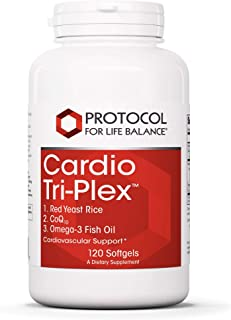 Protocol For Life Balance - Cardio Tri-Plex - CoQ10 and Omega-3 Rich Fish Oil for Cardiovascular Support, Cognitive (Brain...